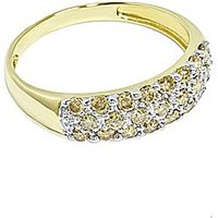 9ct Gold Champagne Diamond Pave Ring
