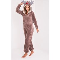 Reindeer Onesie, Brown