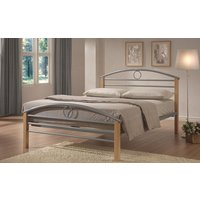 Limelight Pegasus Metal and Wooden Bed Frame, Small Double