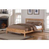 Flintshire Pentre Hardwood Oak Finish Bed Frame, Small Double