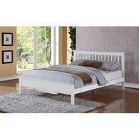 Flintshire Pentre Hardwood White Finish Bed Frame, Small Double