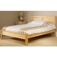 Friendship Mill Coniston Solid Pine Wooden Bed Frame, Small Double, 4 Drawers, High Foot End