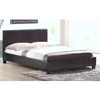 Venice Faux Leather Bed Frame, Small Double, Faux Leather - Black