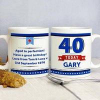 Personalised 40th Birthday Star Mug