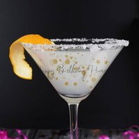 Personalised Bubbles Cocktail Glass