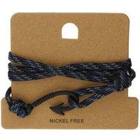 Bella Mia Mens Midnight Blue Wrap Black Hook Bracelet