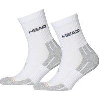 Head Performance Short Crew Socks - 3 Pair Pack - White, UK 2.5-5