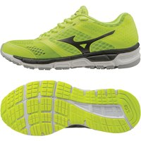 Mizuno Synchro MX Mens Running Shoes - Yellow/Black/Silver, 7 UK