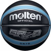 Molten Deep Channel Basketball - Ball Size 7, Blue/Black