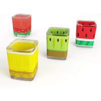 Mustard Froot Shot Glasses