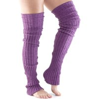 ToeSox Thigh High Leg Warmers - Purple