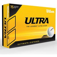 Wilson Ultra Ultimate Distance Golf Balls - Pack of 15 - White