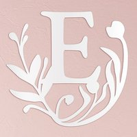 Modern Fairy Tale Acrylic Initial - White - Letter M