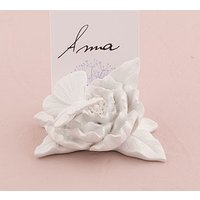 Ornamental Butterfly Garden Place Card Holders - White