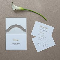 High Style in Black with Crystal Laser Embossed Accessory Cards with Personalisation