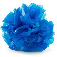 Just Fluff Coloured Plastic Poms - Package of 25 Poms Navy Blue