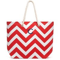 Extra Large Cabana Tote - Red