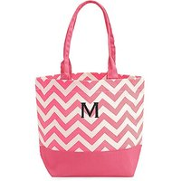 Chevron Canvas Tote - Pink