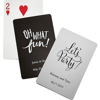 Personalised Foil Stamped Playing Cards - Red
