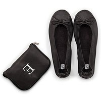 Foldable Flats Pocket Shoes - Black - Large