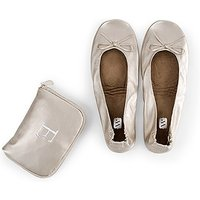 Foldable Flats Pocket Shoes - Champagne - Small