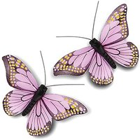 Medium Hand Painted Butterfly (12) - Green