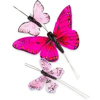 Hand Painted Butterfly - (24) Assorted Sizes - Purple