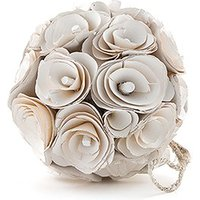Floral Pomander Ball Made With Wood Curls - Small - Steel Blue