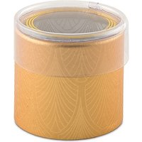 Art Deco Cylinder Boxes With Clear Lid - Gold With White Art Deco Print