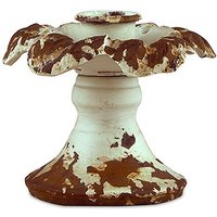 Vintage Inspired Iron Taper Candle Holder - Daiquiri Green