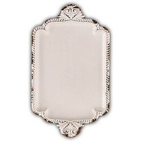 Antique White Miniature Metal Ring Tray - White