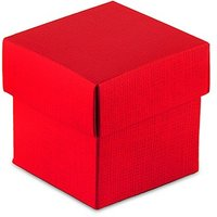 Passion Red Square Favour Box with Lid