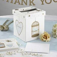 To Have & To Hold Lovebirds and Hearts Large Post Box