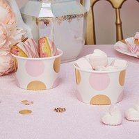 Pink & Gold Polka Dot Sweetie Tubs