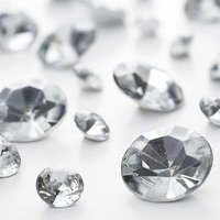 Silver Diamante Table Gems 100g Mixed Size Value Pack - Silver