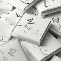 Individually Wrapped Butterfly Chocolate Favour Squares Pack - Ivory