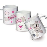 Pers Cotton Zoo Tweed Bear Girls Plastic Cup