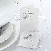 Lottery Ticket White Silver Butterfly Favour Pack
