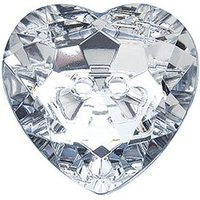 Large Clear Heart Jewel Buttons Pack