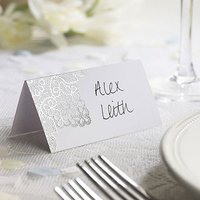 Delicate Lace Place Card Pack - Black