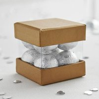 Luxury Mini Cube Favour Box Pack - Silver