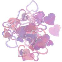 Pink Iridescent Large Hearts Confetti