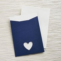 Navy Eco Chic DIY RSVP/TY/STD/Evening Invitation Kit - 10 Pack