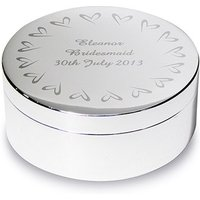 Personalised Round Trinket Box with Heart Design