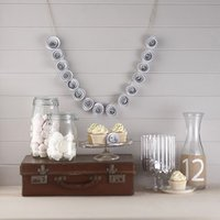 Vintage Affair - Paper Flower Garland - White - White