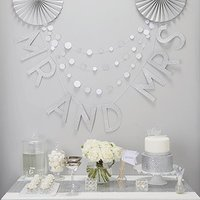 Mr And Mrs Silver Glitter Wedding Bunting