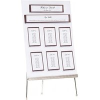 White & Chocolate Table Planner A3