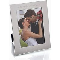 Silver Plate Personalised Photo Frame