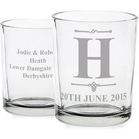 Personalised Votive Candle Holders - 10 Pack