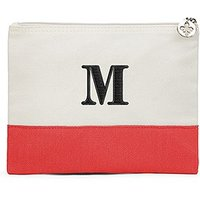 Colourblock Large Zip Pouch - Red